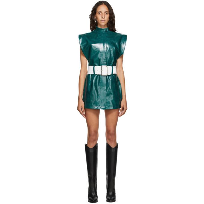 Photo: Mowalola Green Leather Vest Dress
