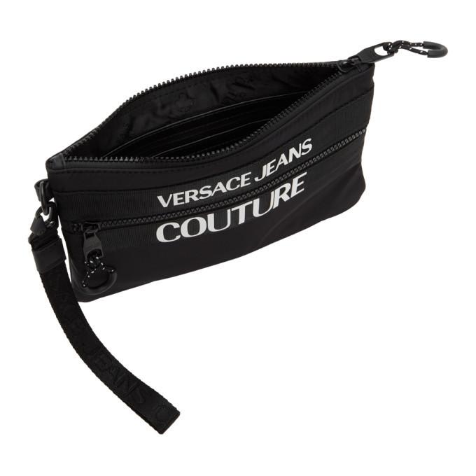 Versace Jeans Couture Black Logo Pouch