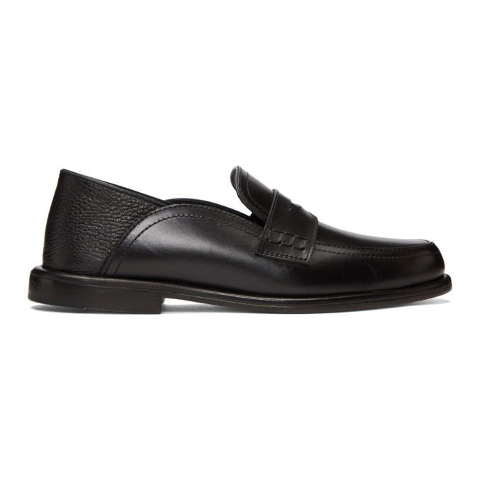 Photo: Loewe Black Slip-On Loafers