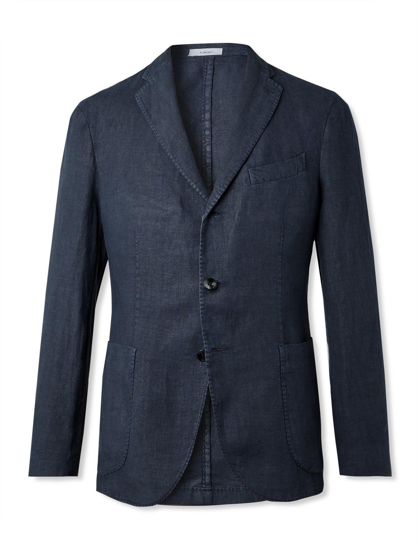 BOGLIOLI - Linen Suit Jacket - Blue
