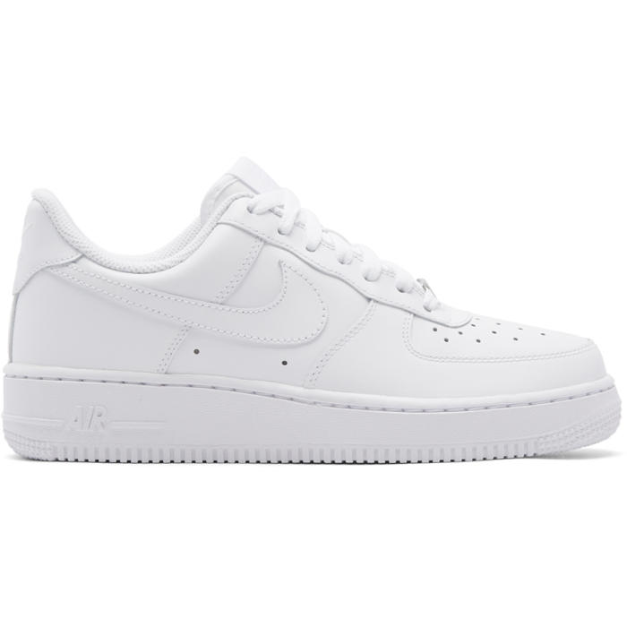 Photo: Nike White Air Force 1 07 Sneakers