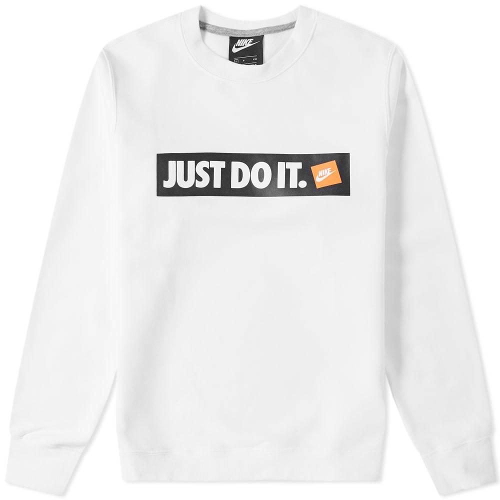 Photo: Nike Just Do It Crew Sweat White