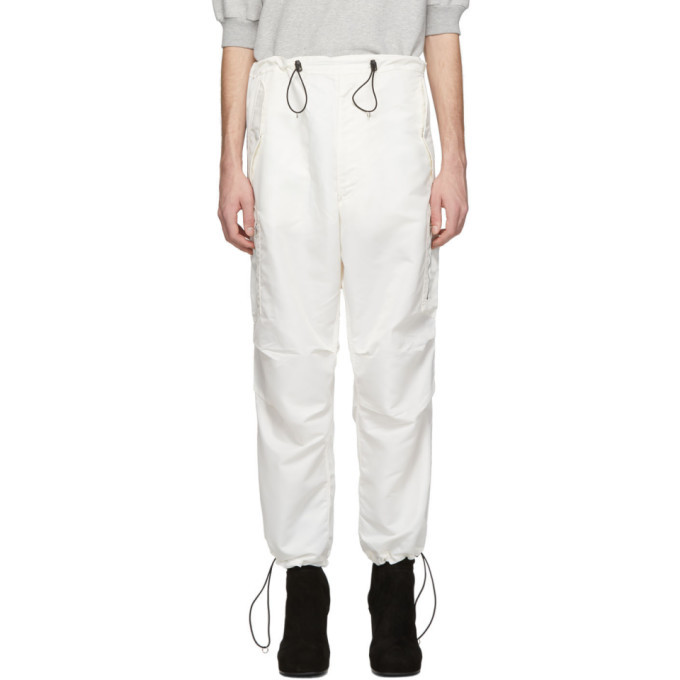 Photo: Random Identities White Satin Cargo Pants