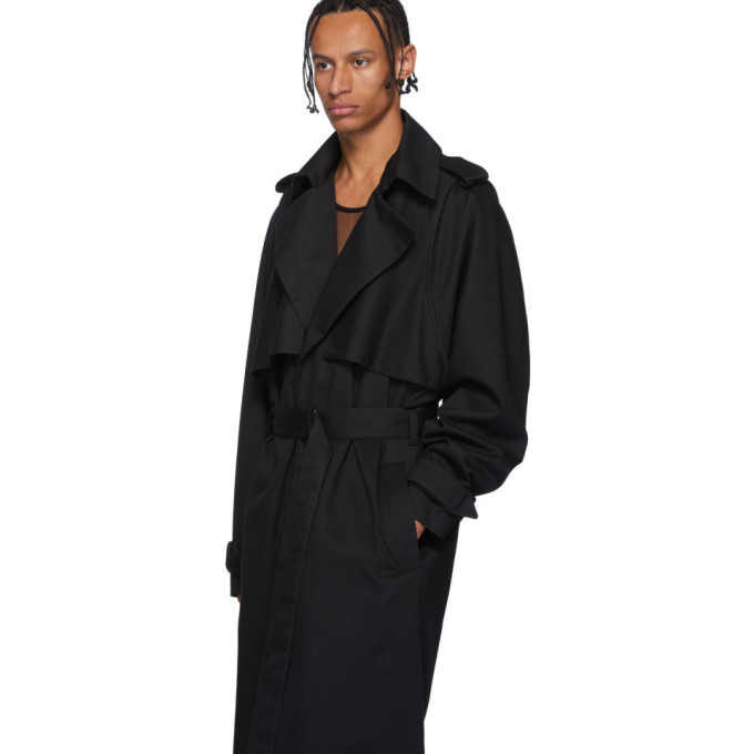 Bianca Saunders Black Trey Trench Coat