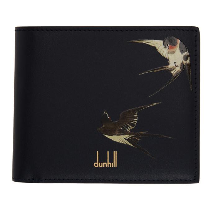 Dunhill Navy Spring Swallows Bifold Wallet