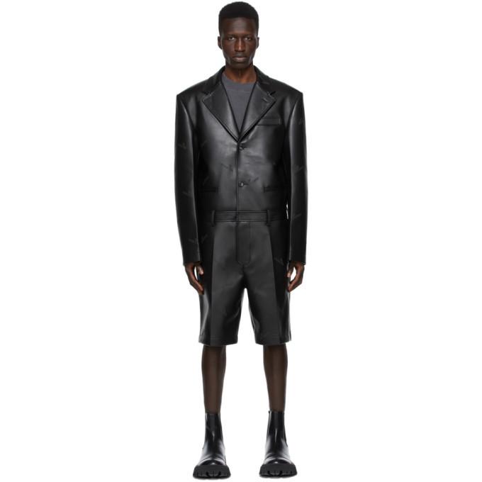 Photo: We11done Black Faux-Leather Jumpsuit