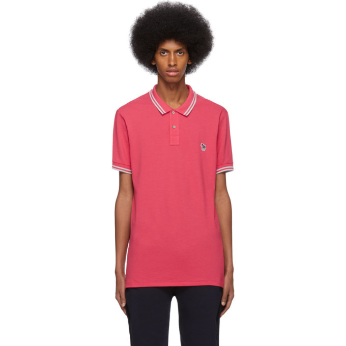 PS by Paul Smith Red and Grey Zebra Polo