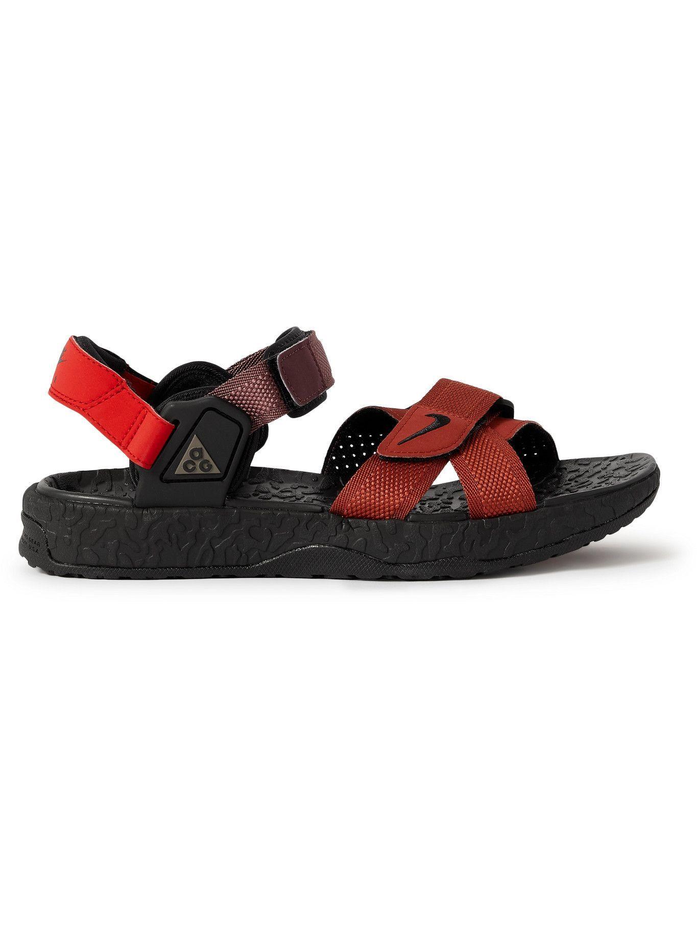 Photo: Nike - ACG Air Deschutz Rubber-Trimmed Webbing Sandals - Black
