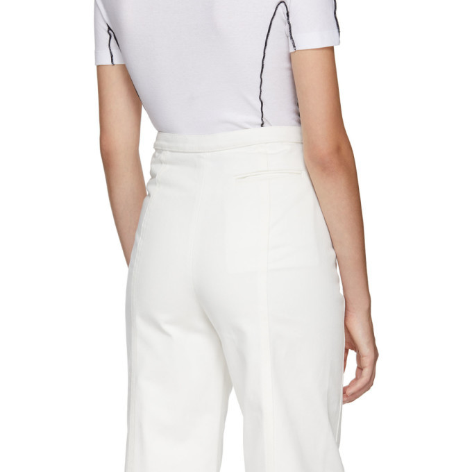 Lemaire White High Waisted Jeans
