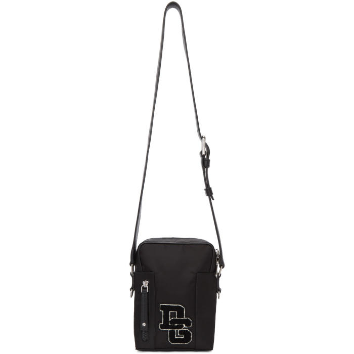 Photo: Dolce and Gabbana Black Varsity Logo Camera Bag