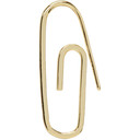 Aries Gold Paperclip Single Earring
