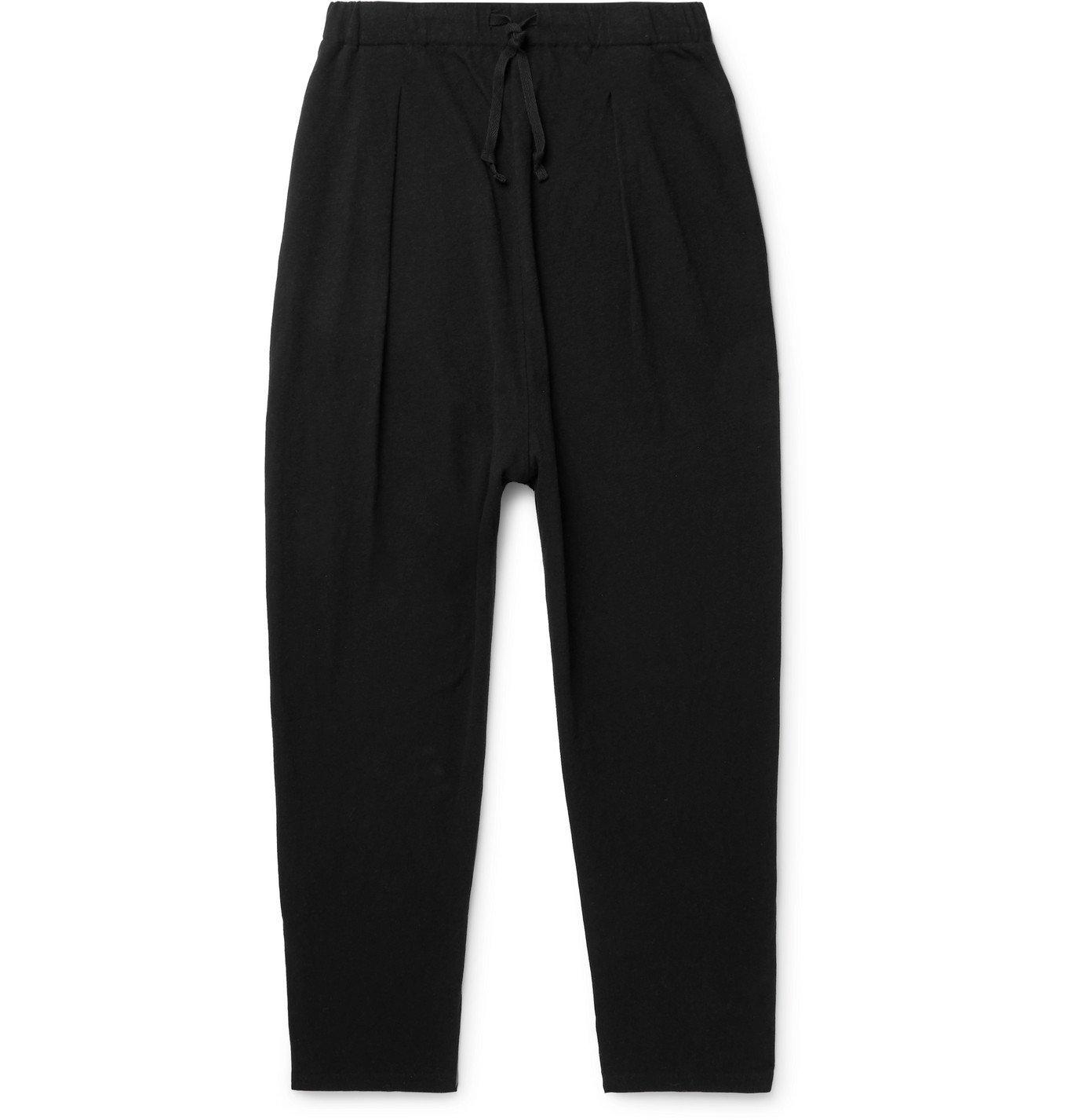 Photo: KAPITAL - Tapered Printed Cotton-Jersey Sweatpants - Black