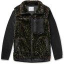 Sacai - Panelled Faux Fur and Cotton-Corduroy Jacket - Green