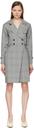 Max Mara Black & White Tamigi Trench Dress