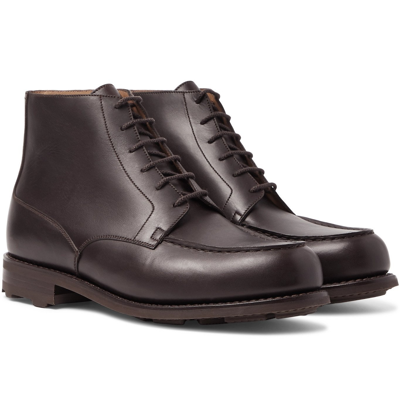 Photo: J.M. Weston - Leather Derby Boots - Brown
