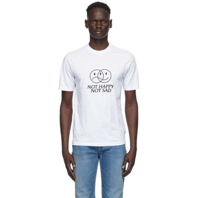 Photo: VETEMENTS White Not Happy Not Sad T-Shirt