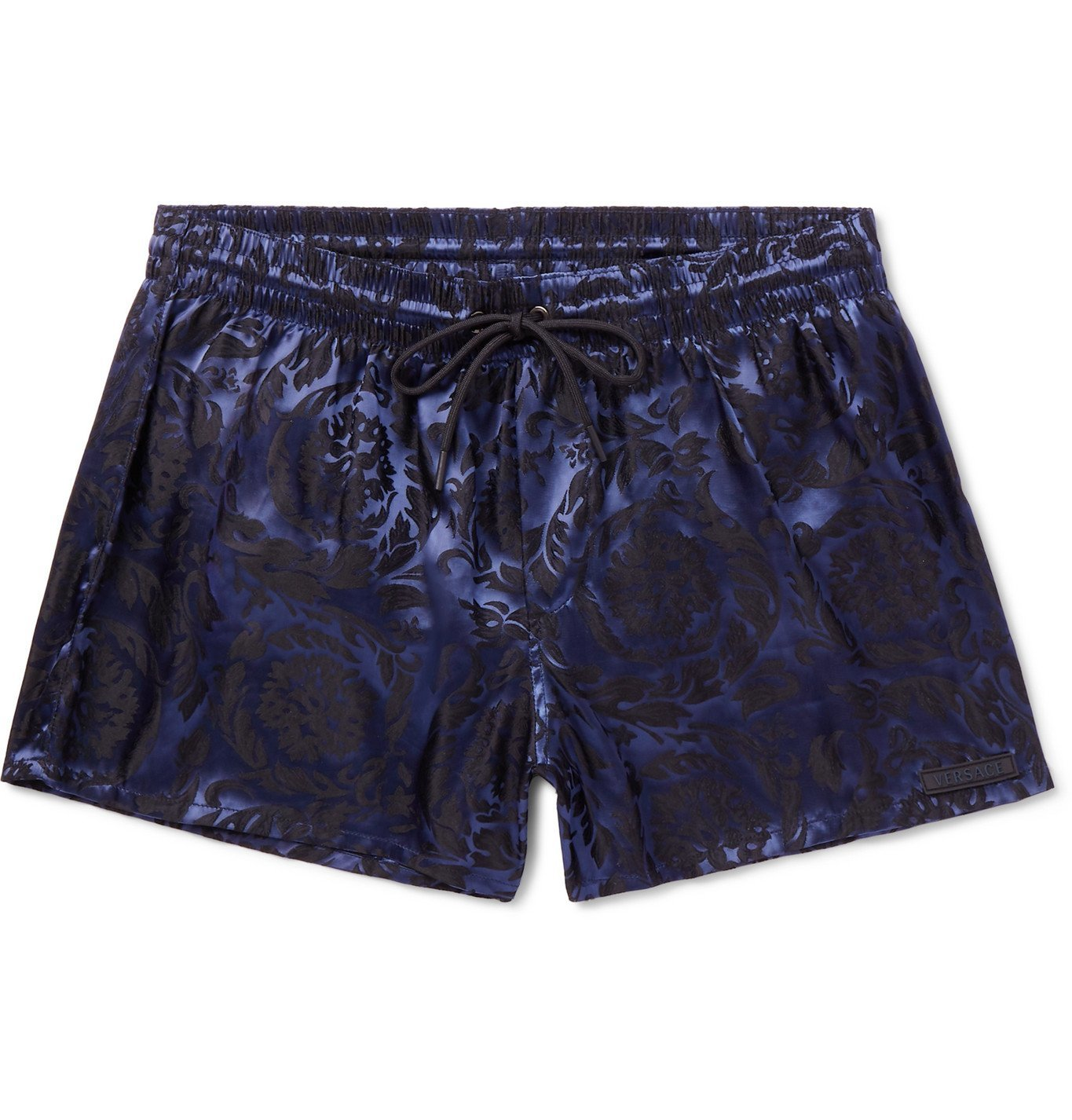 Photo: Versace - Short-Length Jacquard Swim Shorts - Blue