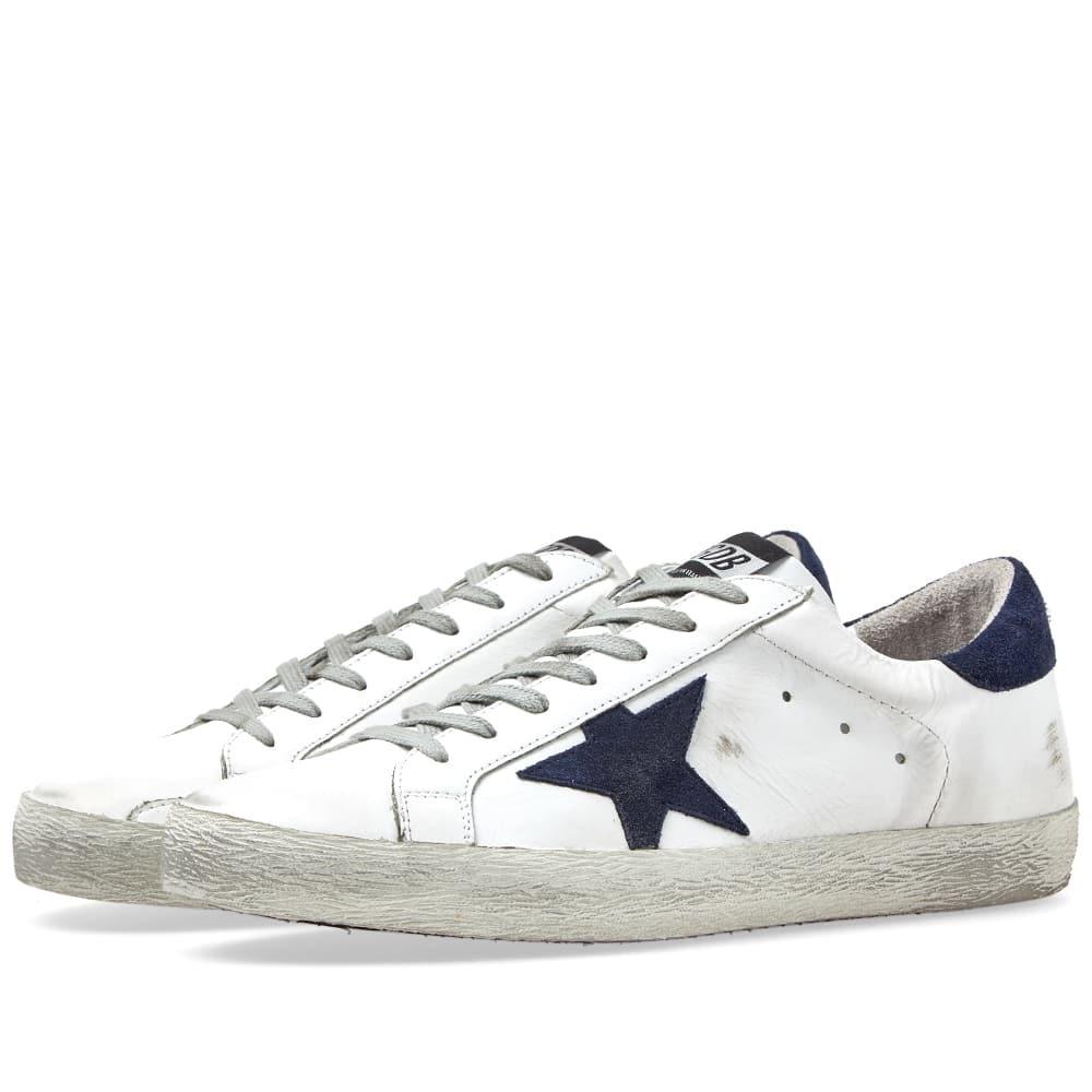 Photo: Golden Goose Deluxe Brand Superstar Leather Sneaker White & Navy