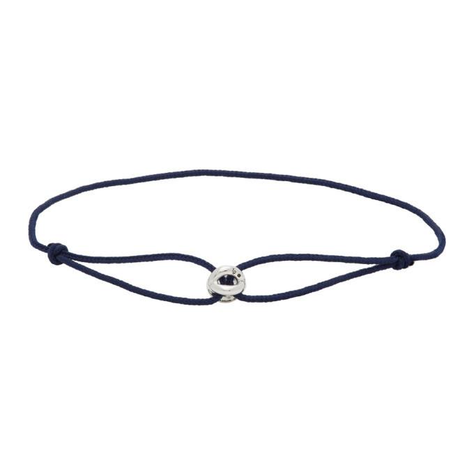 Photo: Le Gramme Navy Maillon Cord Bracelet
