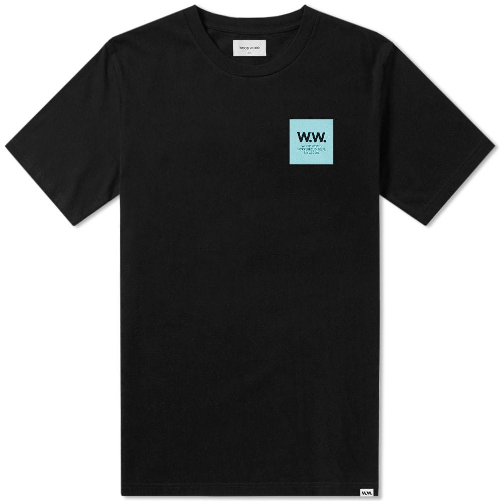 Wood Wood WW Box Logo Tee Black