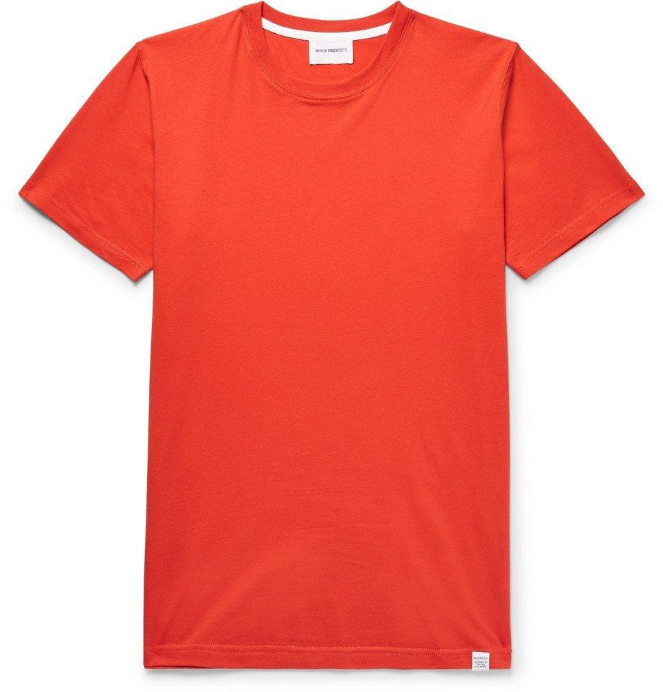 Photo: Norse Projects - Niels Cotton-Jersey T-Shirt - Men - Orange