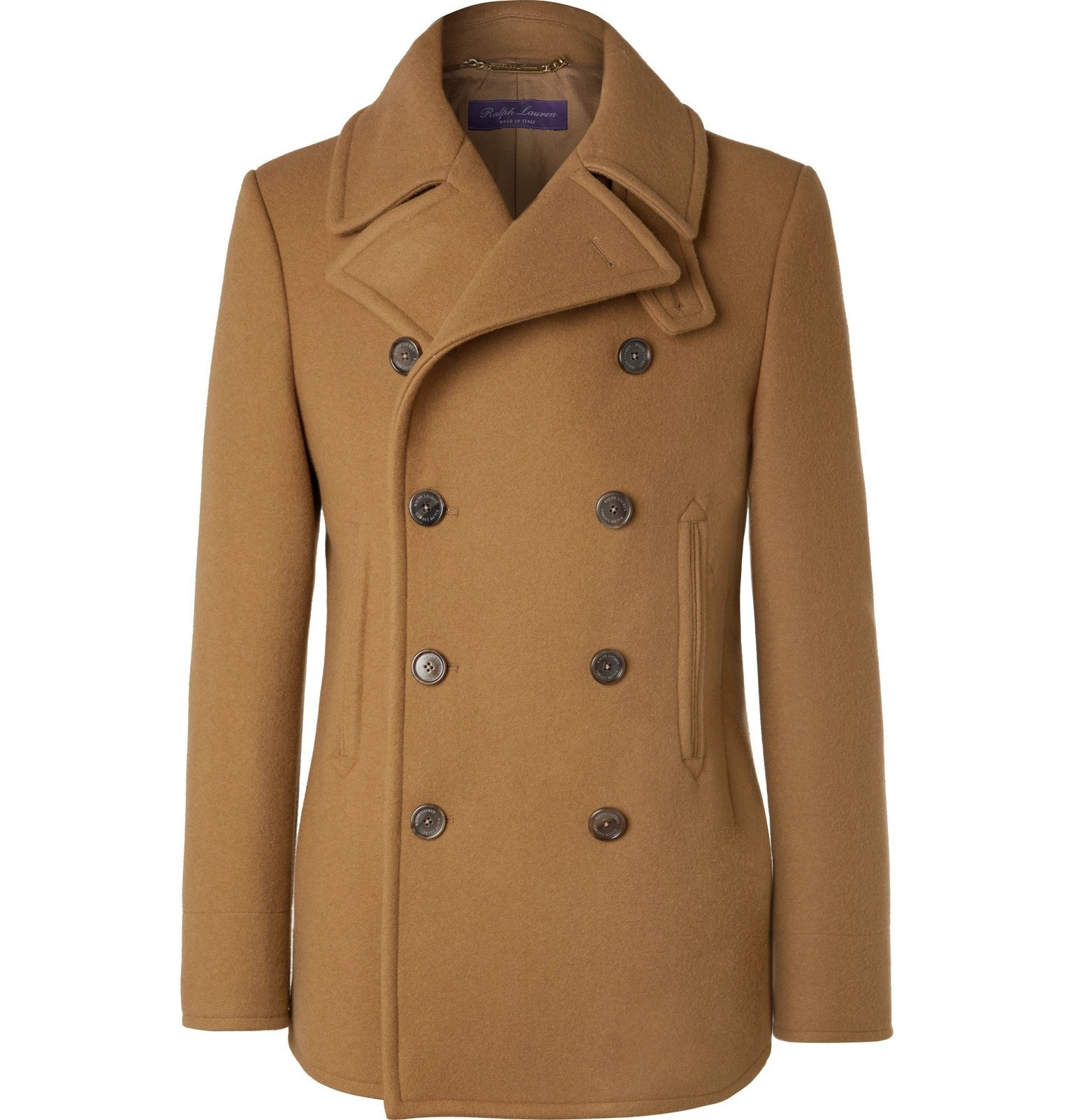 Photo: Ralph Lauren Purple Label - Fullerton Double-Breasted Wool and Cashmere-Blend Peacoat - Brown