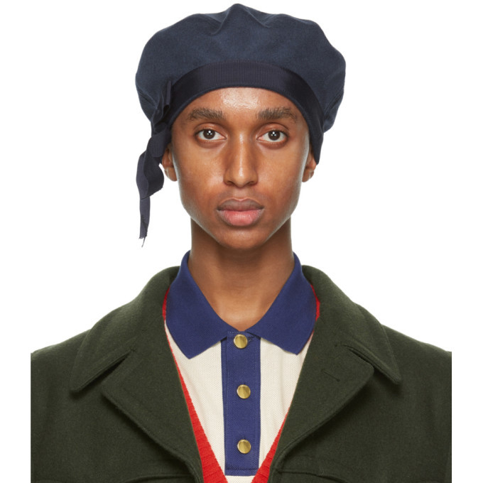 Photo: Gucci Navy Wool Heavy Felt Beret