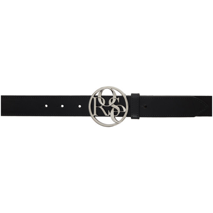 Photo: Martine Rose Black and Silver Rose Buckle Belt