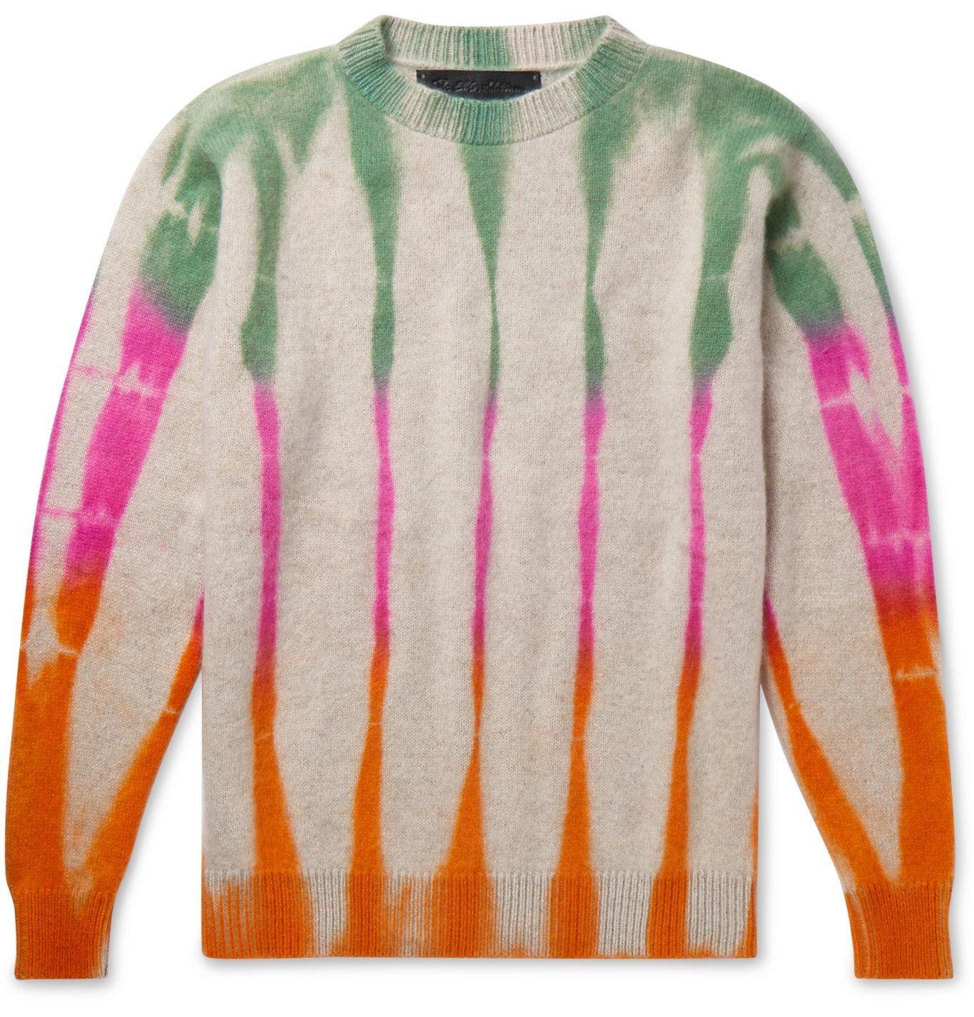 Photo: The Elder Statesman - Tie-Dyed Cashmere Sweater - Multi
