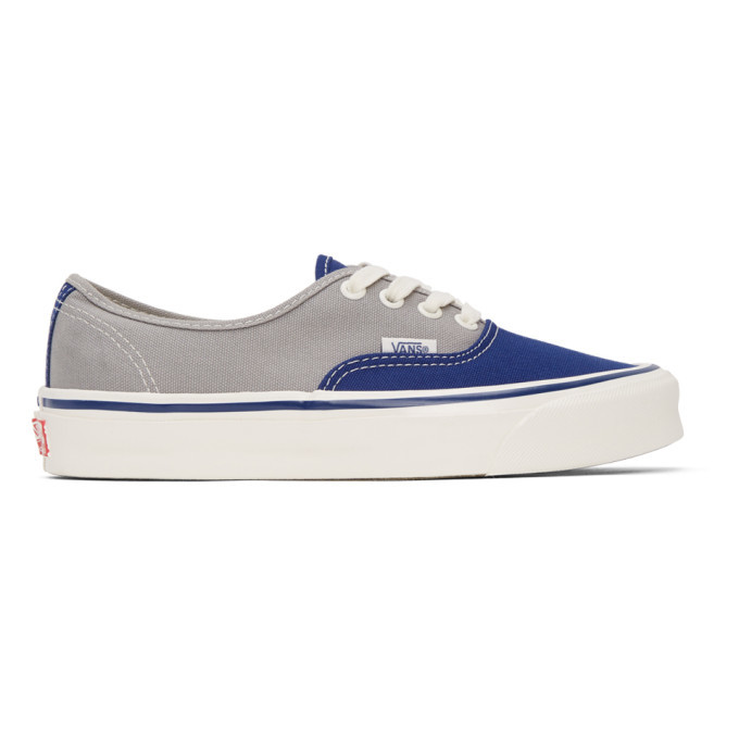 Photo: Vans Grey and Blue OG Authentic LX Sneakers