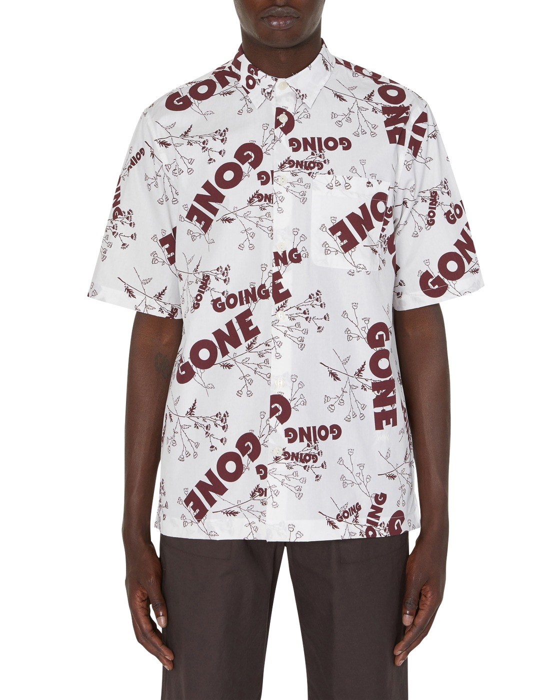 Photo: Wood Wood Thor Shirt Flowers Off White