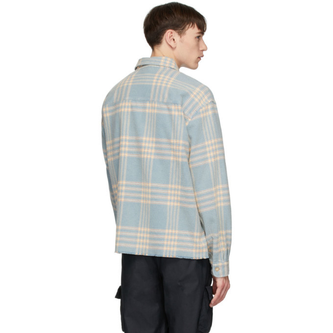John Elliott Blue Hemi Oversized Shirt