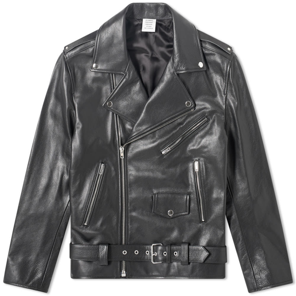 Photo: VETEMENTS Perfecto V Lines Leather Jacket