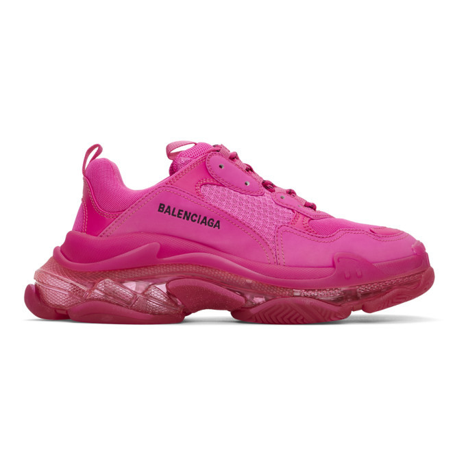 Photo: Balenciaga Pink Triple S Sneakers