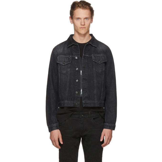 Photo: Marcelo Burlon County of Milan Black Vintage Wash Denim Jacket