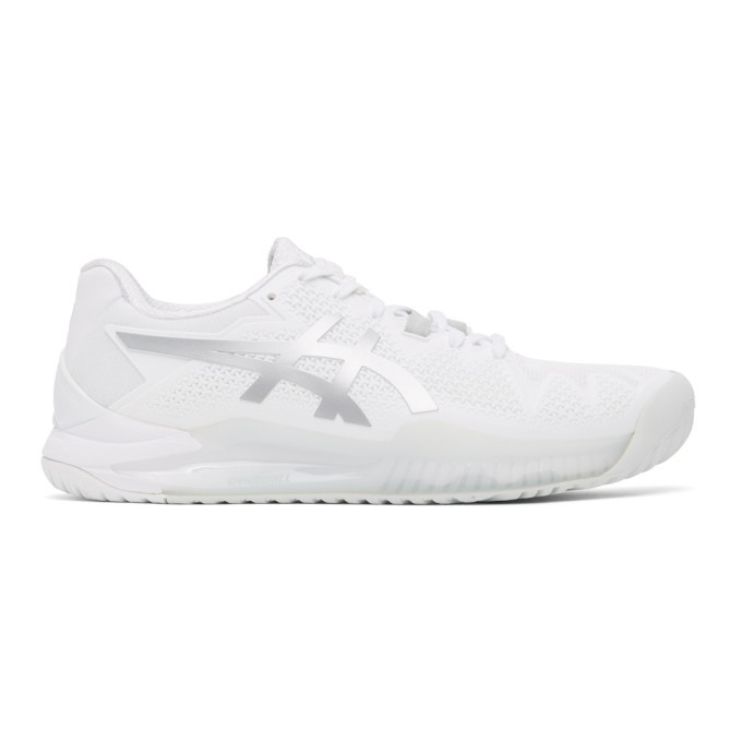 Photo: Asics White Gel-Resolution 8 Sneakers