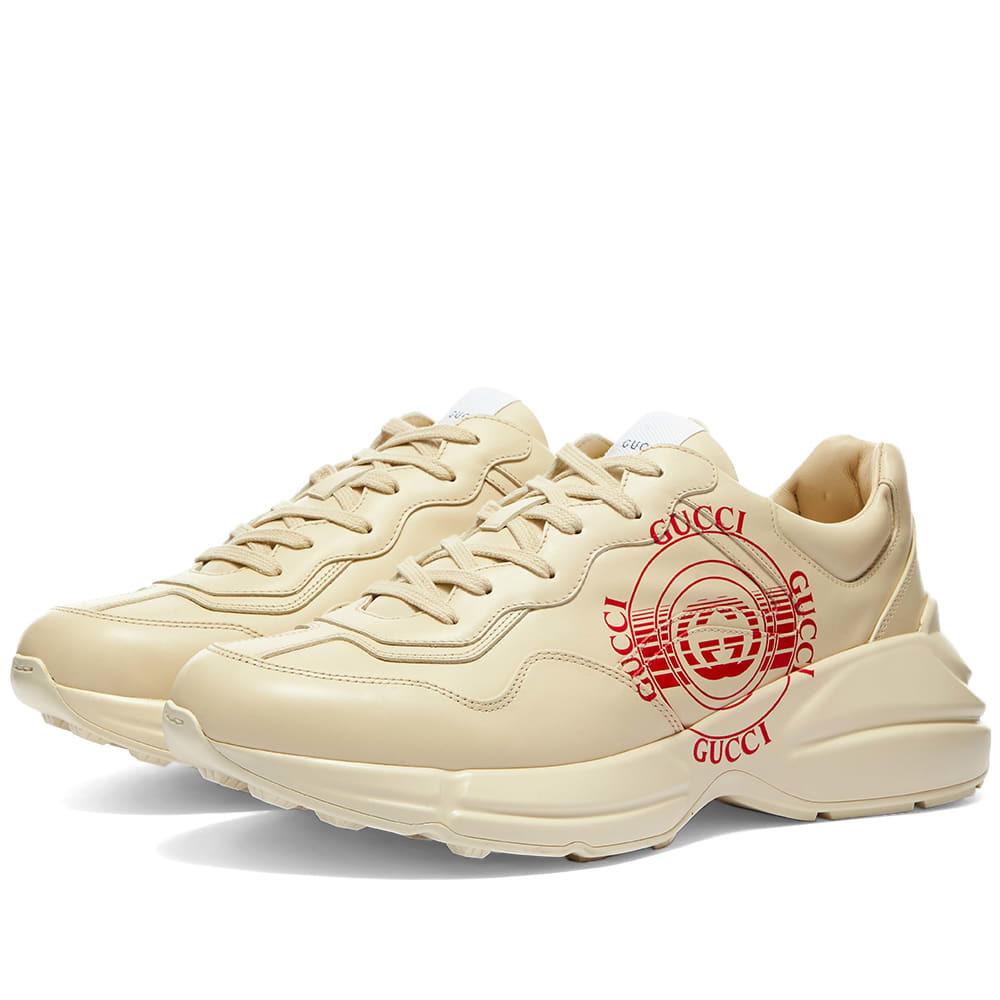 Photo: Gucci Rython Logo Stamp Print Sneaker