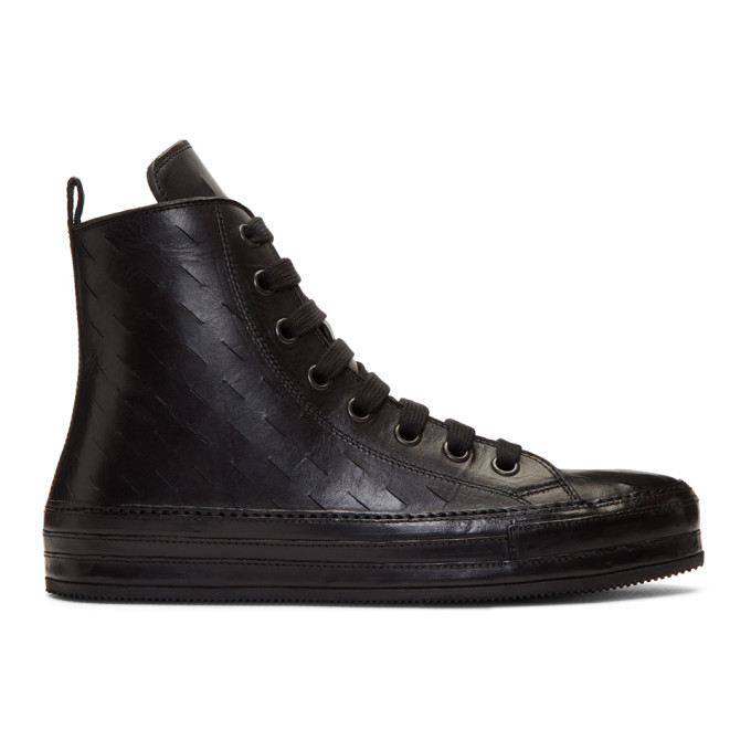 Photo: Ann Demeulemeester Black Maine High-Top Sneakers