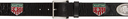Martine Rose Black Leather Irn Belt