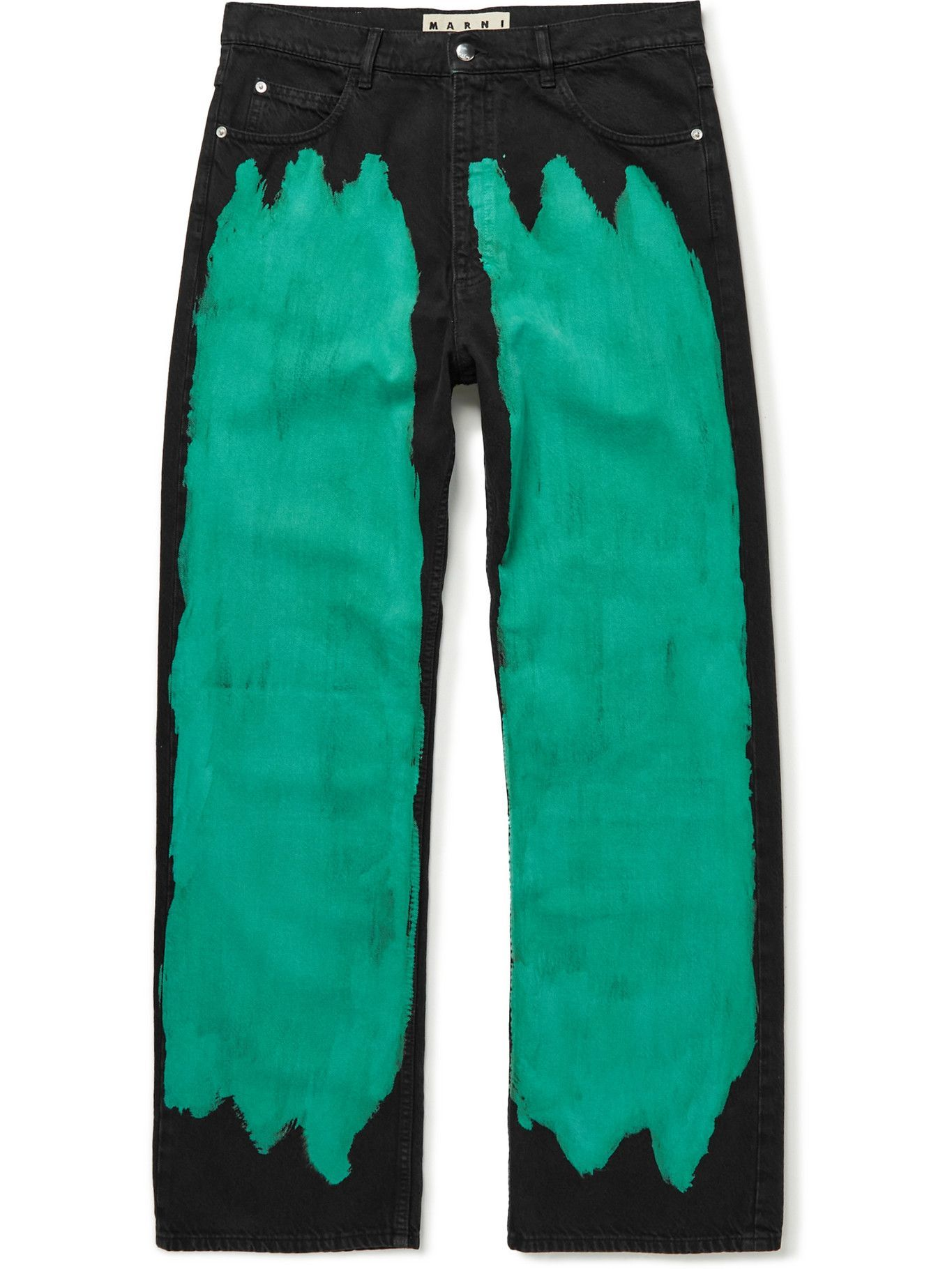 Marni - Bleached Denim Jeans - Green