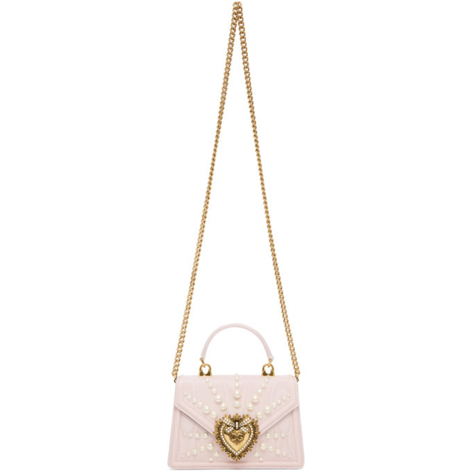 Photo: Dolce and Gabbana Pink Small Moire Devotion Bag