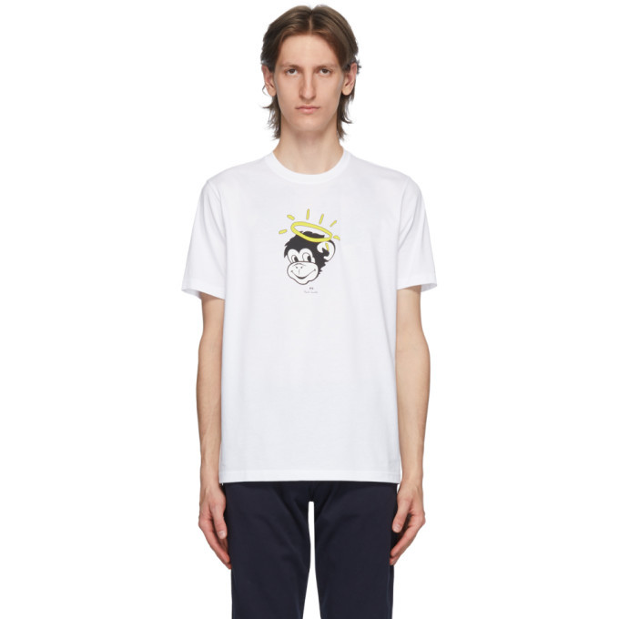 Photo: PS by Paul Smith White Halo Monkey T-Shirt