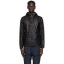 C.P. Company Black Medium Waxed Jacket