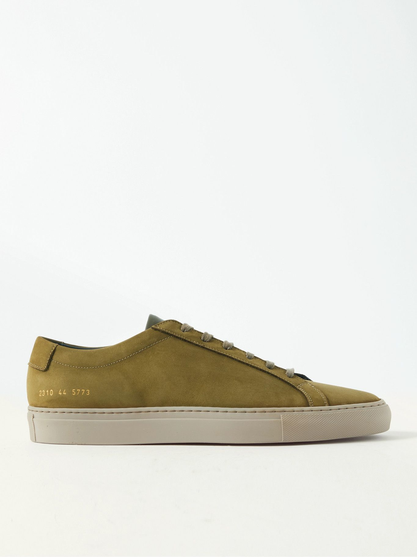Photo: Common Projects - Original Achilles Nubuck and Leather Sneakers - Green