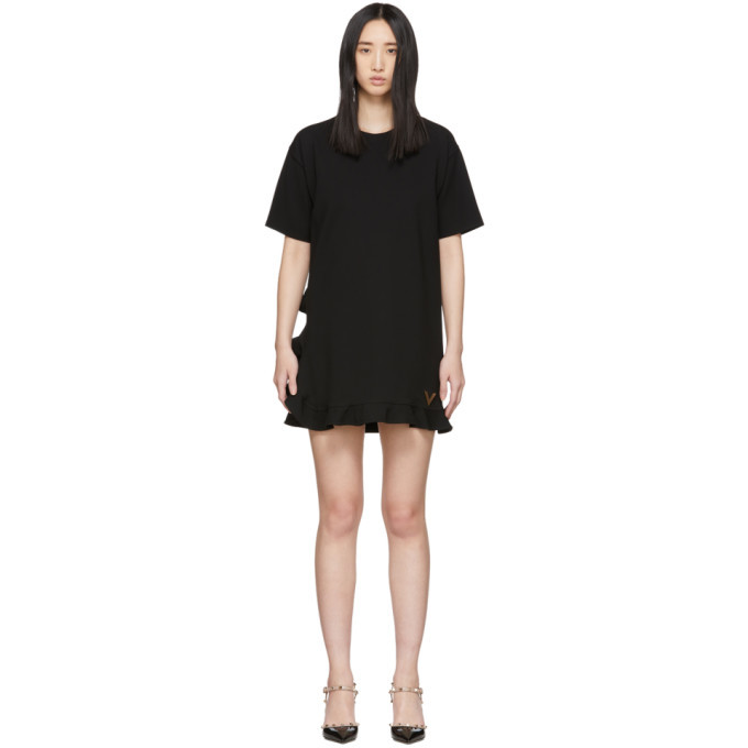 Photo: Valentino Black Stretch Jersey Dress