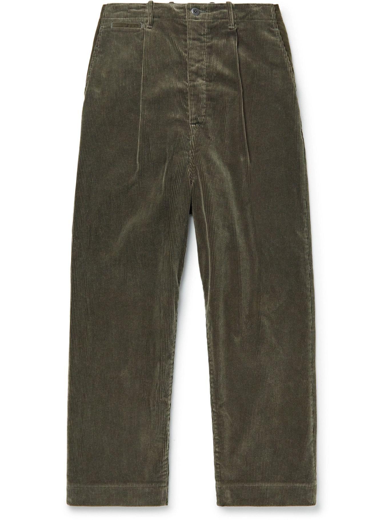 Photo: KAPITAL - Wide-Leg Cotton-Corduroy Trousers - Gray