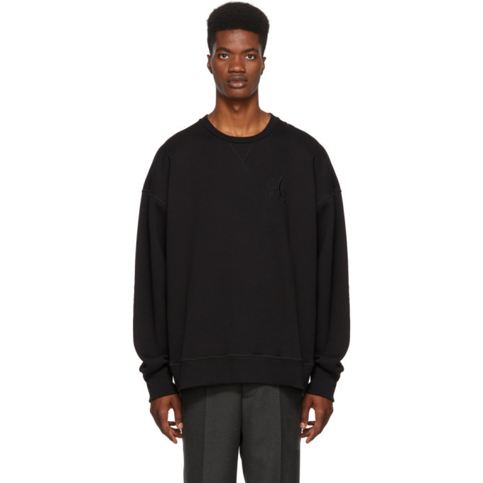 Photo: Alexander McQueen Black Logo Sweatshirt