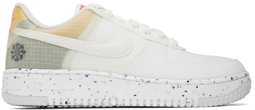 Photo: Nike White Air Force 1 Low Crater Sneakers