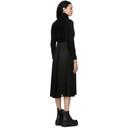 Sacai Black Wool Pleated Turtleneck Dress