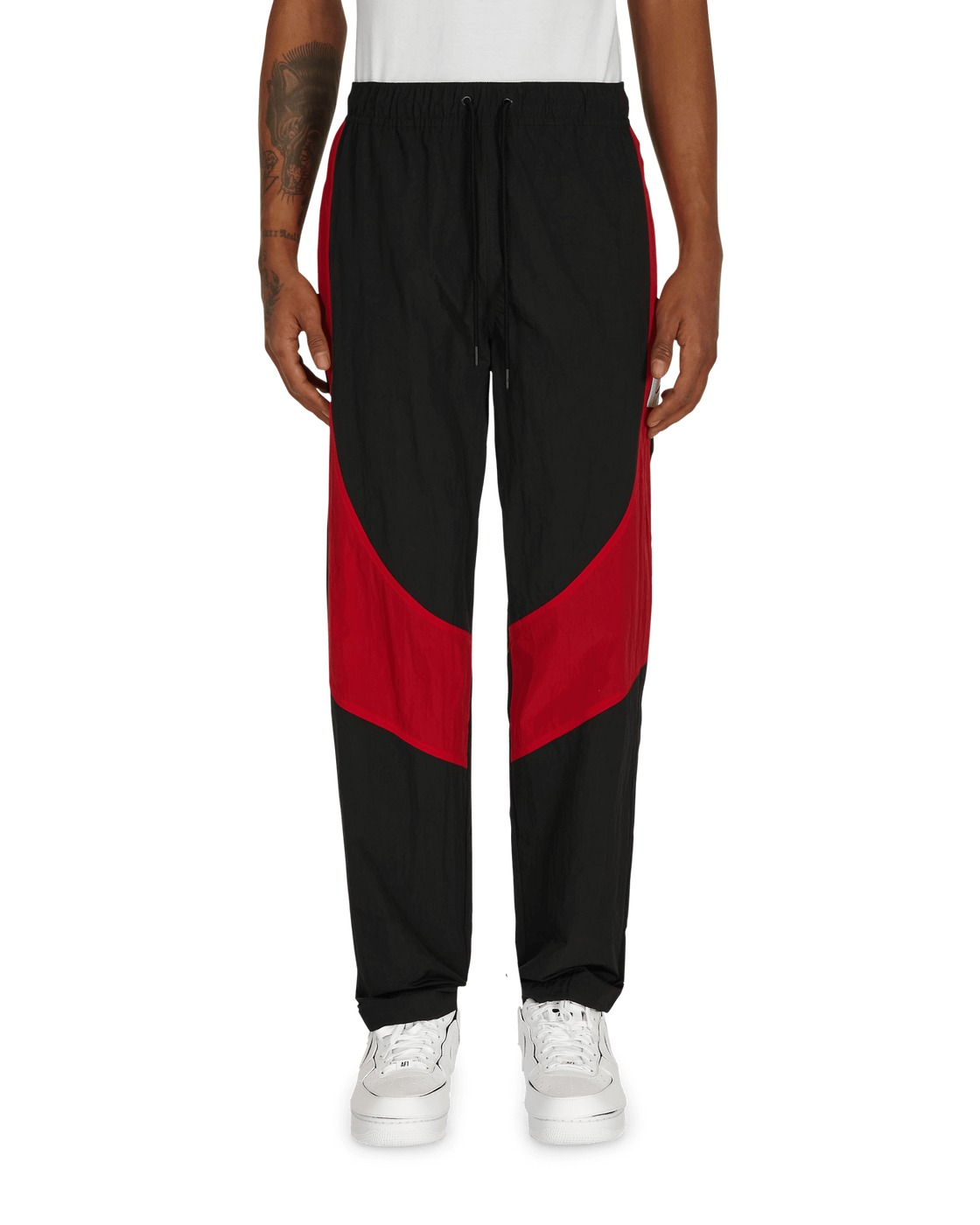 Photo: Nike Jordan Flight Suit Pants Black/Gym Red